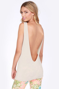 Rhythm My Scoop Beige Tank Top