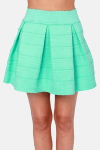 Feeling Lovesick Mint Green Bandage Skirt at Lulus.com!