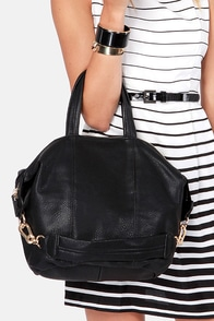 Zip Uptown Black Handbag at Lulus.com!