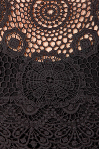 Second Set Crochet Black Crop Top at Lulus.com!