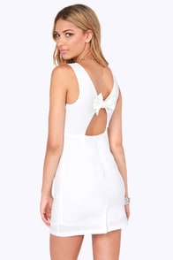 Bow In Tow Ivory Dress at Lulus.com!