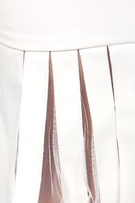 Ruffled Leathers Ivory Vegan Leather Top at Lulus.com!