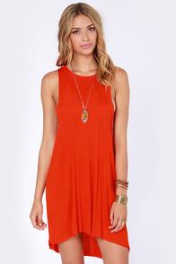Obey Outlaw Red Orange Dress
