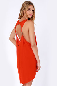 Obey Outlaw Red Orange Dress at Lulus.com!