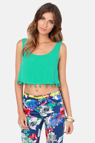 Crop Dead Gorgeous Teal Crop Top at Lulus.com!