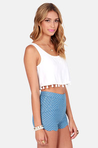 Crop Dead Gorgeous Ivory Crop Top at Lulus.com!