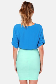 Plain as Day Cornflower Blue Top at Lulus.com!