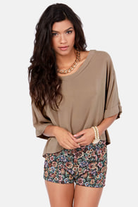 Weave a Tale Brown Top at Lulus.com!