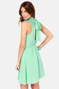 Daily Showdown Lace Mint Green Dress at Lulus.com!
