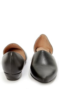Sixtyseven Erin Black Leather D'Orsay Smoking Slipper Flats at Lulus.com!