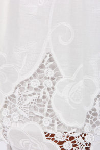 Adrien Broderie Lace Ivory Dress at Lulus.com!