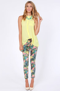 Insight Tropico Rundown Cropped Tropical Print Skinny Jeans at Lulus.com!