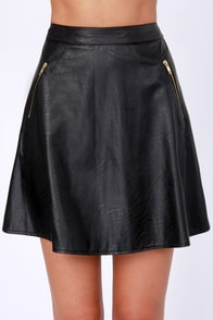Leather to the Editor Black Vegan Leather Skirt at Lulus.com!