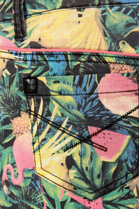 Insight Skater High-Rise Tropical Print Jean Shorts at Lulus.com!