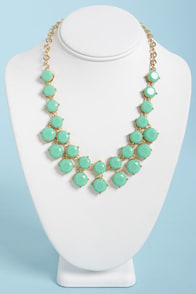 Loan Me a Stone Mint Green Statement Necklace at Lulus.com!