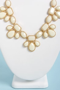 Gem Class Ivory Statement Necklace at Lulus.com!