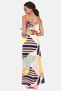 Tall It a Day Print Maxi Dress at Lulus.com!