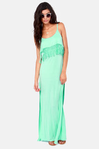 Tiers to You Mint Green Lace Maxi Dress