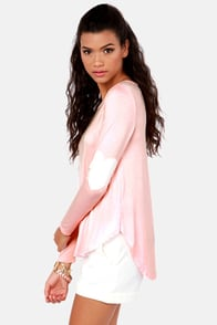 Hearts-ichord Peach Long Sleeve Top at Lulus.com!