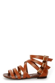 Covina 04 Tan Strappy Gladiator Sandals at Lulus.com!