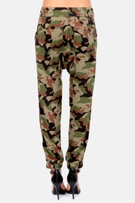 Obey Keegan Camo Print Harem Pants at Lulus.com!