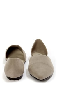 Chinese Laundry Easy Does It Taupe D'Orsay Pointed Flats at Lulus.com!