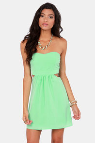 Notch to Mention Strapless Cutout Mint Green Dress at Lulus.com!
