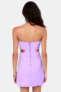 Notch to Mention Strapless Cutout Lavender Dress at Lulus.com!