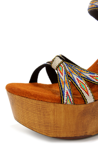 Sbicca Mojo Black Woven Wooden Platform Wedge Sandals at Lulus.com!