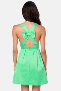 Bow-l a Strike Mint Green Dress at Lulus.com!