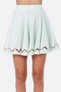 Lucca Couture Happy Godets Light Blue Skirt at Lulus.com!