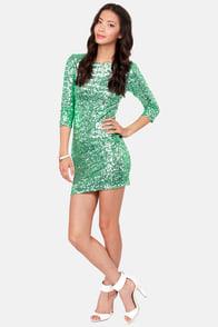 TFNC Paris Mint Green Sequin Dress at Lulus.com!