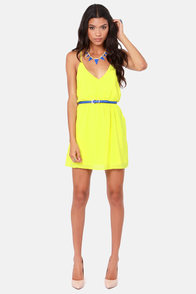 Show and Tell Yellow Dress at Lulus.com!