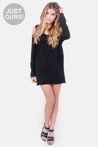 Terry-in' Up My Heart Black Dress at Lulus.com!