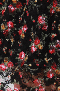 After School Special Black Floral Print Dress at Lulus.com!