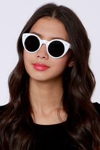 Lady Luck White Sunglasses at Lulus.com!