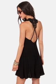 Your Doily Horoscope Crocheted Black Dress