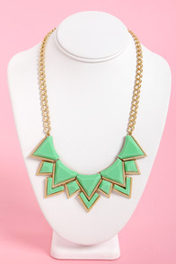 Neck's Best Thing Mint Green Statement Necklace at Lulus.com!