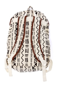 Billabong Secret Dreamin' Cream Tribal Print Backpack at Lulus.com!