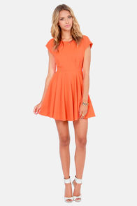Blaque Label True Love Neon Orange Dress at Lulus.com!