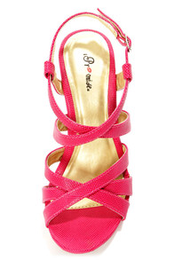 Promise Zuni Fuchsia Strappy Dress Sandals at Lulus.com!