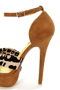 Promise Helen Brown Animal Print Platform High Heels at Lulus.com!