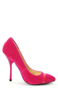 Shoe Republic LA Silva Fuchsia Pointed Pumps at Lulus.com!