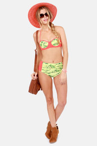 Rhythm Drum High-Rise Fruit Print Bikini at Lulus.com!