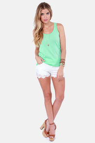 Hurley Perfect Mint Green Tank Top at Lulus.com!