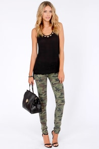 Tiger Tamer Black and Gold Tank Top at Lulus.com!