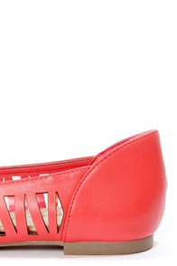 Dia 01 Pink Lemonade Cutout Pointed Flats at Lulus.com!