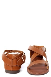Kabo 4 Tan Strappy Flat Sandals at Lulus.com!