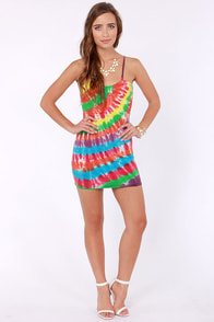 Obey Trouble Maker Tie-Dye Dress at Lulus.com!