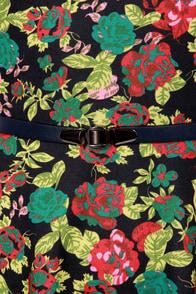 Blooms Traveler Black Floral Print Dress at Lulus.com!